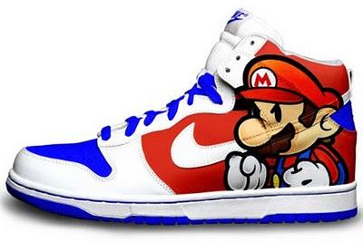 Paper Mario Nike Dunks